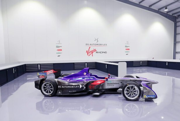 1.-The-DS-Virgin-Racing-Formula-E-Team-at-its-new-Silverstone-headquarters