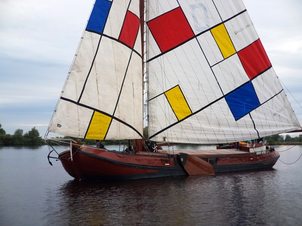Dada inspired boat in the city of Drachten, Friesland