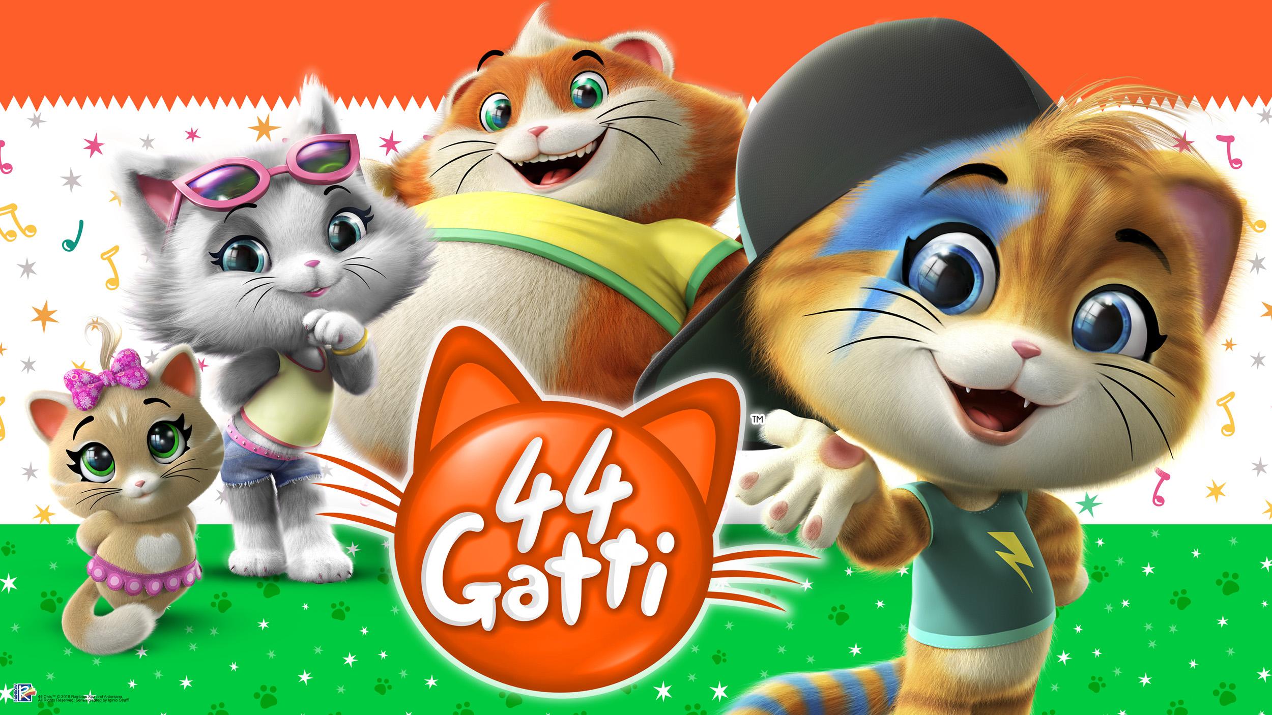 Quadro su tela gatto con surf divertente cartone animato e