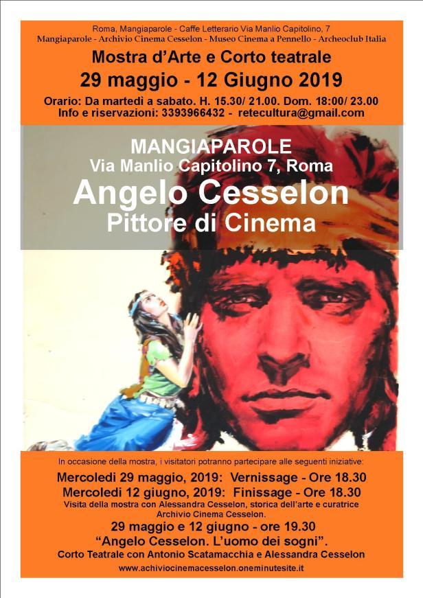 Locandina mostra cesselon - Mangiaparole - 29 maggio 12 giugno 2019.