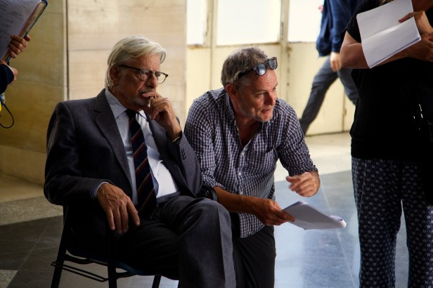TULIPANI - director Mike van Diem and Police Inspector Giancarlo Giannini 9127