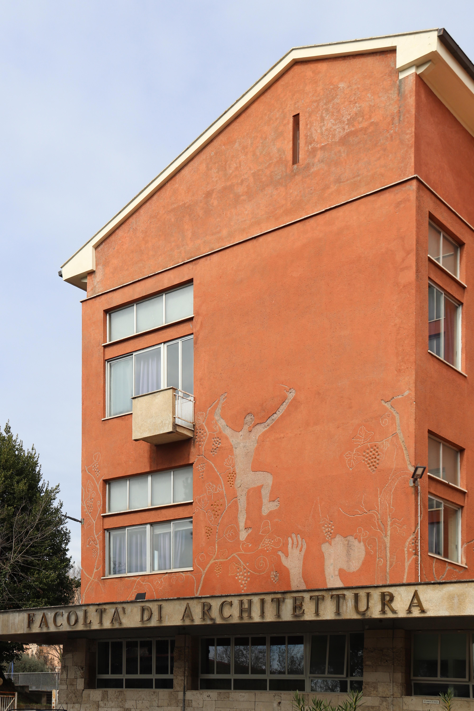 Facoltà di Architettura_sede di via Gramsci_graffito Guttuso_1968