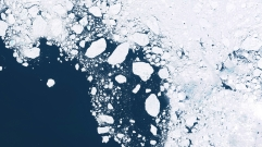 Glaciers,And,Ice,Melting,In,The,North,,Satellite,Image,Showing